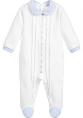 Mintini Boys Blue Ribbon Baby Grow